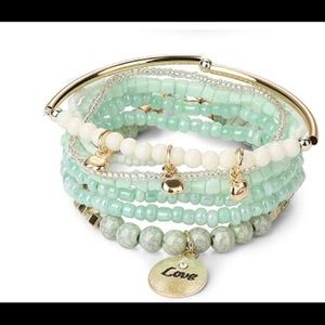 New Anthropologie stackable Love Bracelet